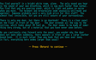 Christian Text Adventure atari screenshot